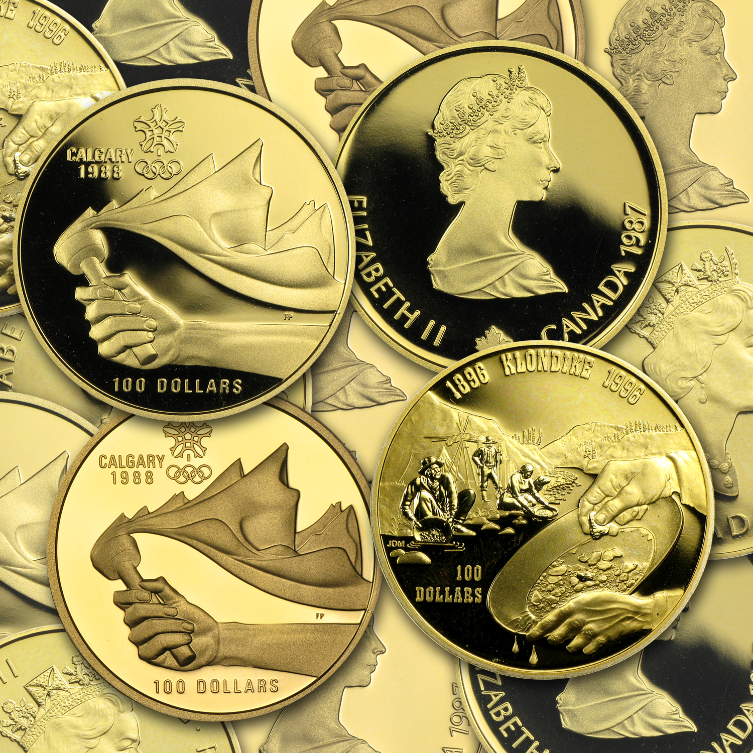 1987-2005 Canada 1/4 oz Proof Gold $100 (Random Year)