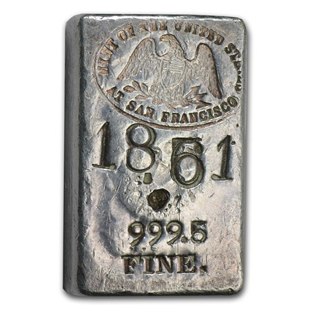 5 60 Oz Silver Bar 1930s San Francisco Mint Assay All