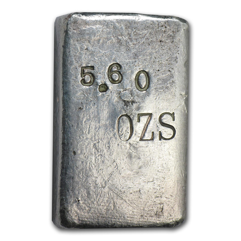 5 60 Oz Silver Bar 1930s San Francisco Mint Assay All