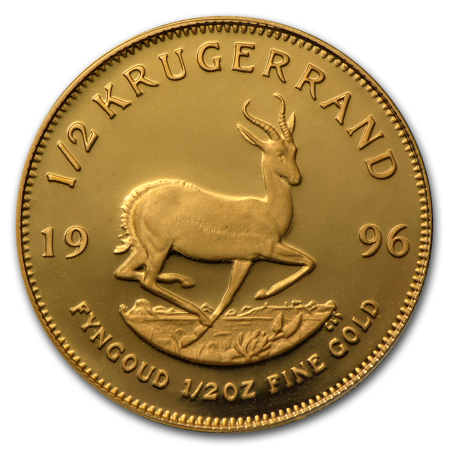 1996 South Africa 1/2 oz Proof Gold Krugerrand