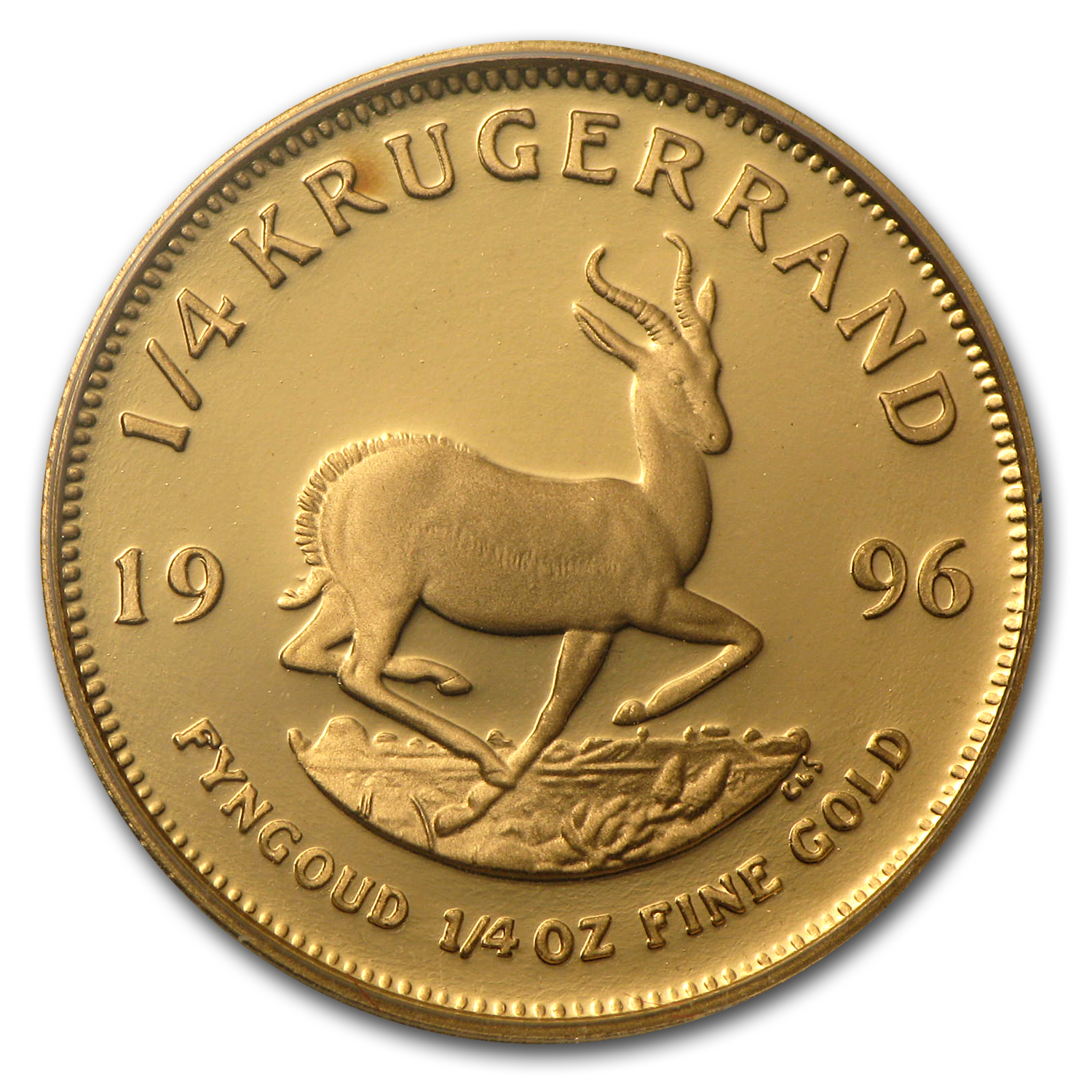 1996 South Africa 1/4 oz Proof Gold Krugerrand