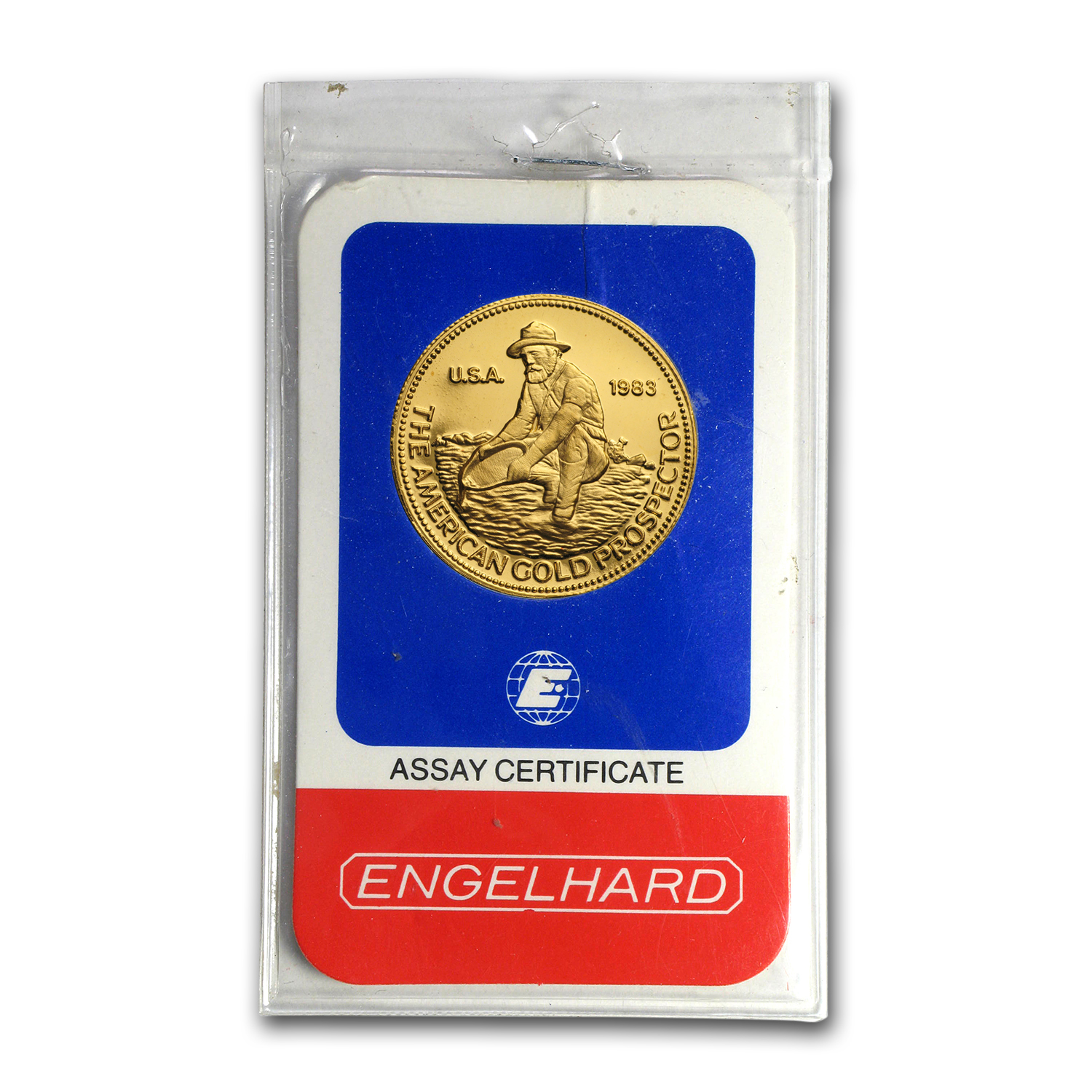 1/2 oz Gold Round - Engelhard (Prospector, In Assay)