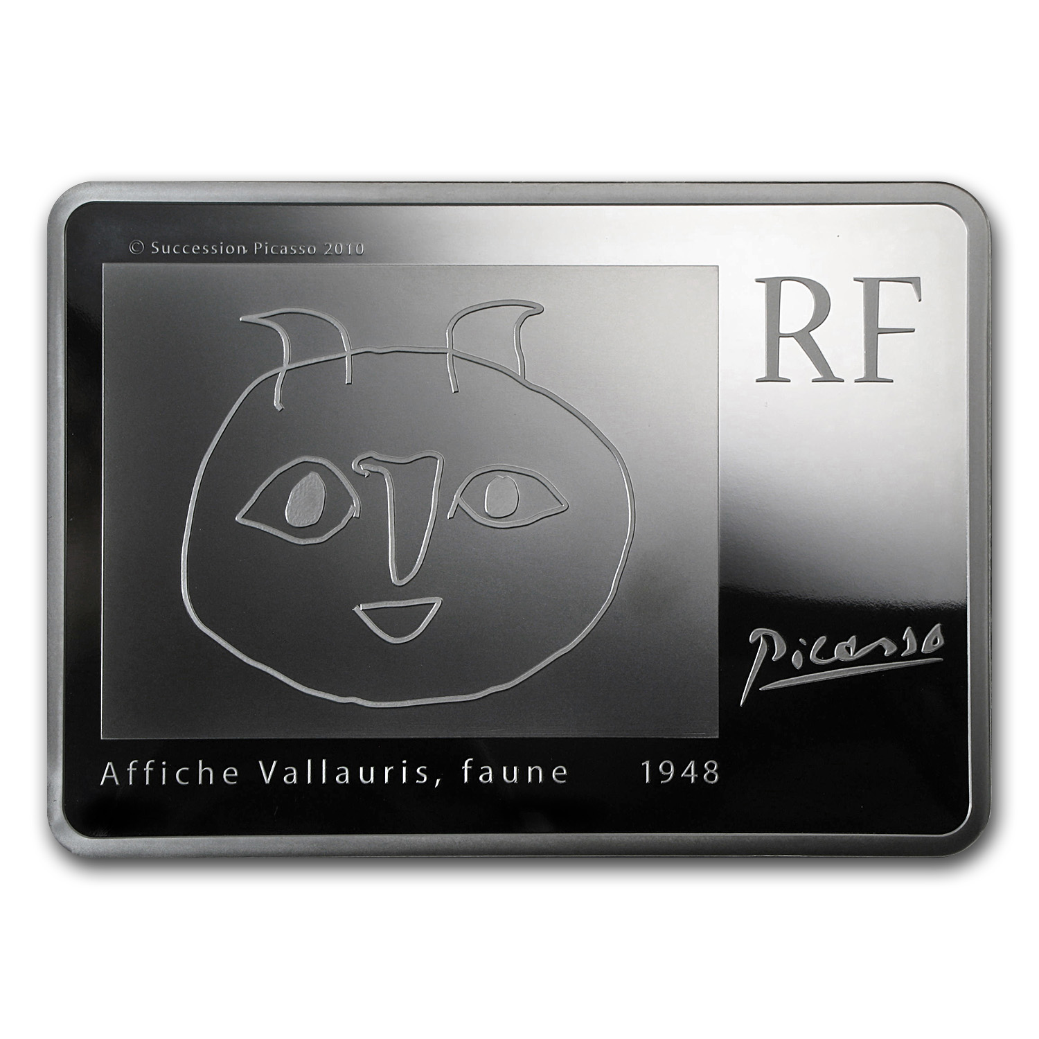 French 2010 1 Kilo Proof Silver - Pablo Picasso