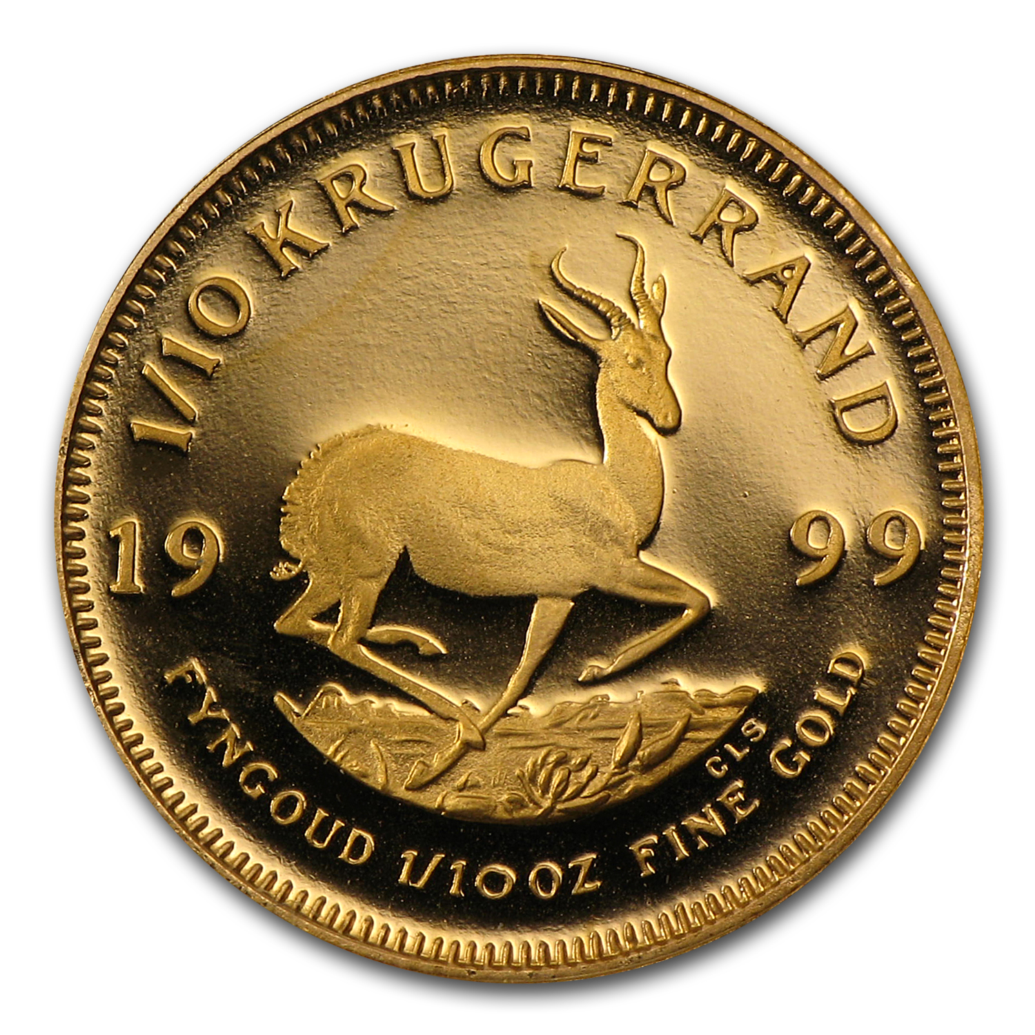1999 1/10 oz Gold South African Krugerrand (Proof)