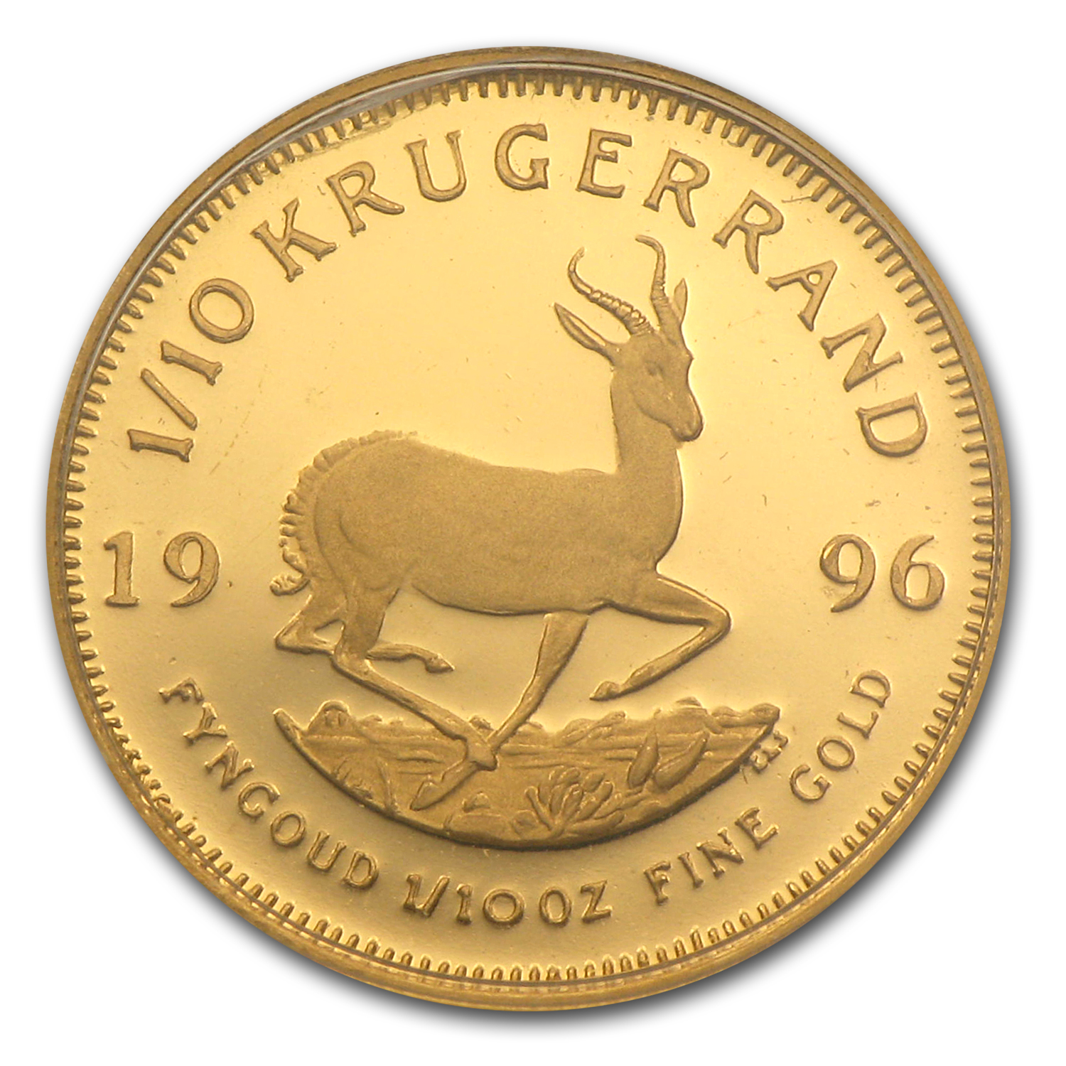 1996 South Africa 1/10 oz Proof Gold Krugerrand