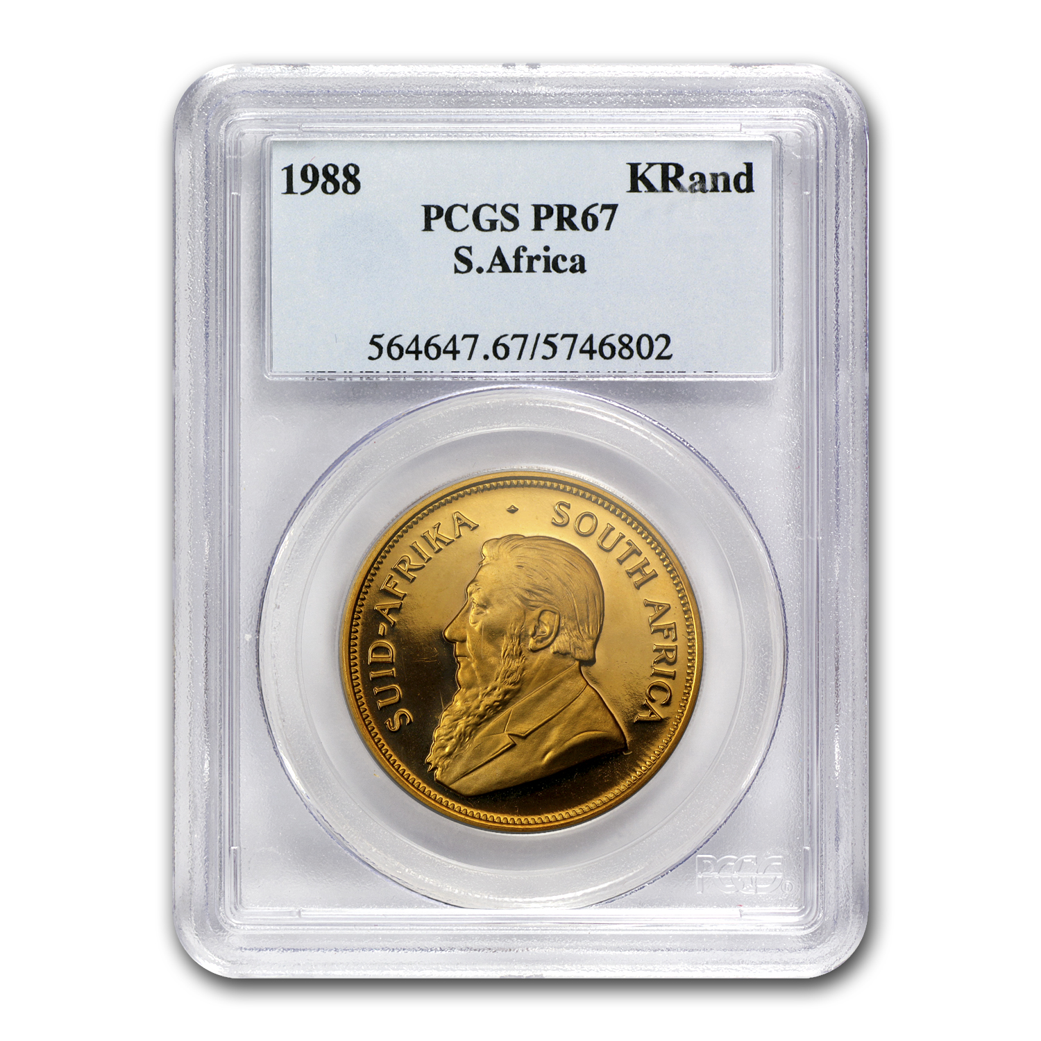 1988 1 oz Gold South African Krugerrand PR-67 PCGS