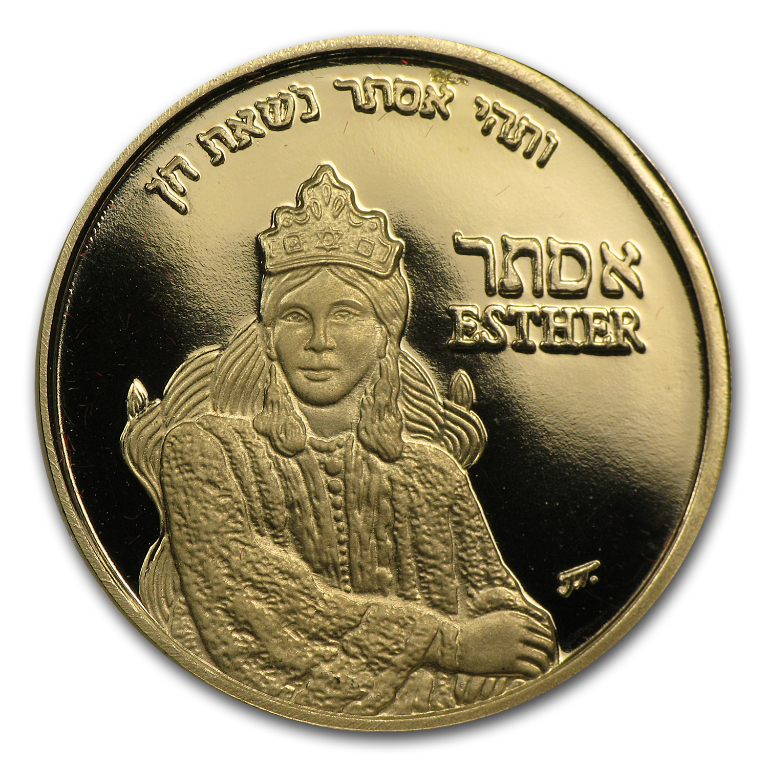 2011 Israel Proof Gold Medal Queen Esther (AGW .188 oz)