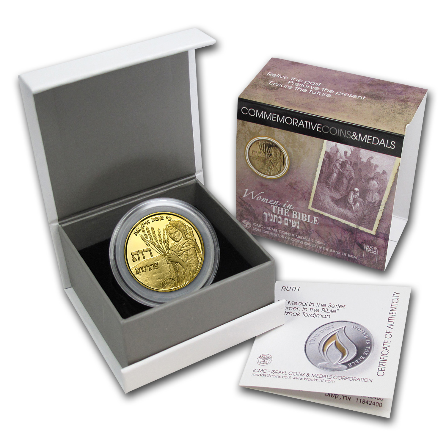 2009 Israel Ruth Proof Gold Medal AGW .188 oz
