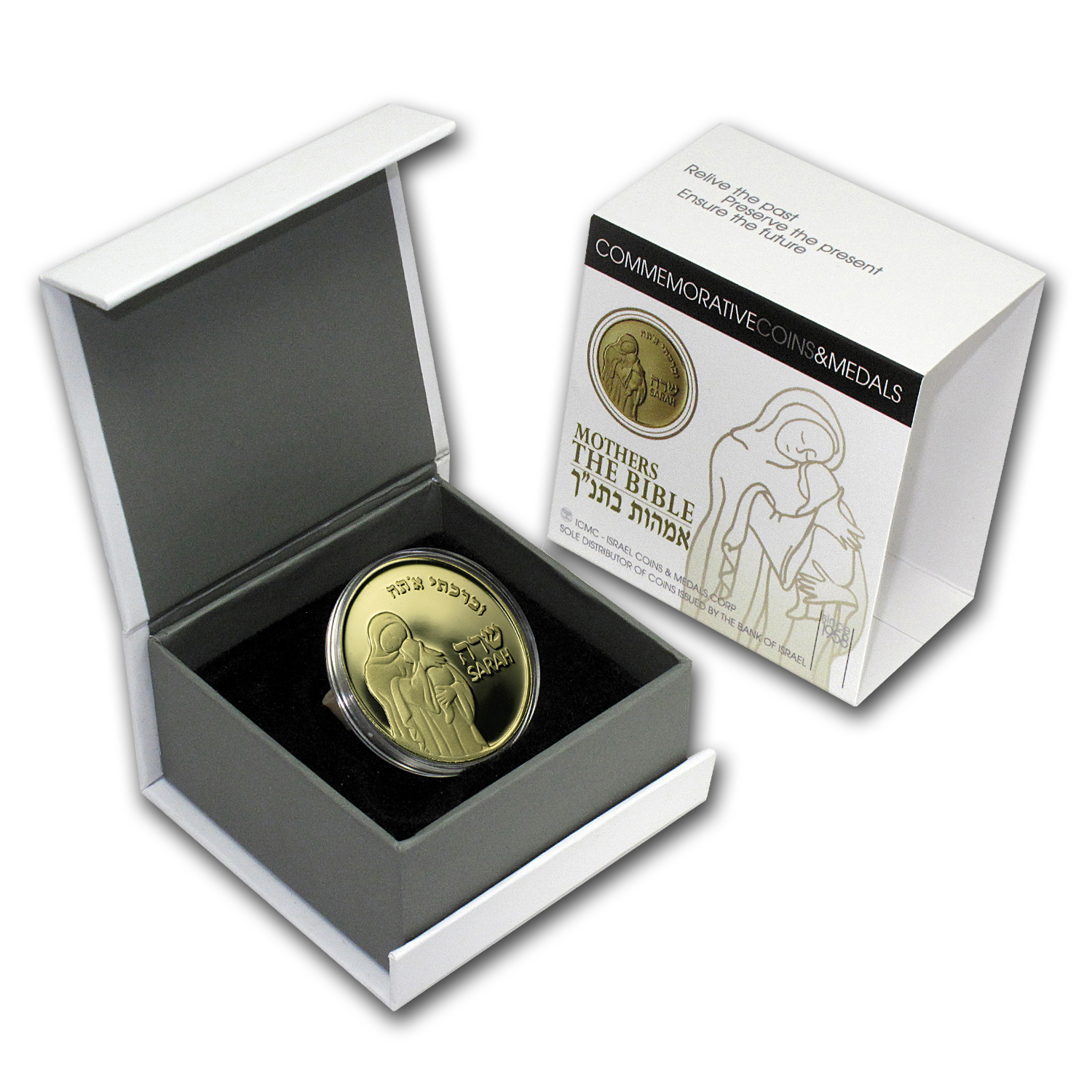 2007 Israel Sarah Proof Gold Medal AGW .32 oz