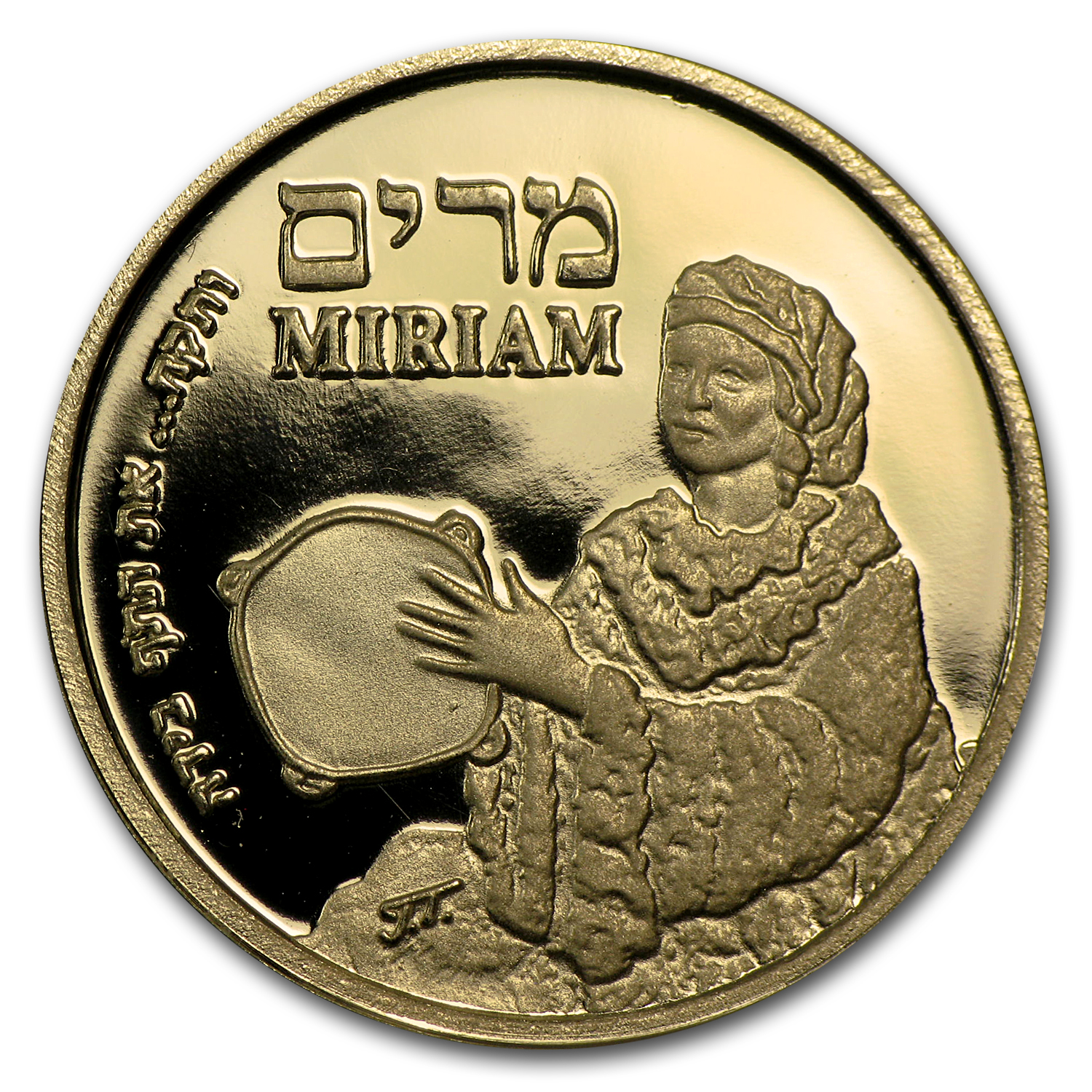 2010 Israel Proof Gold Medal Miriam AGW (.188 oz)