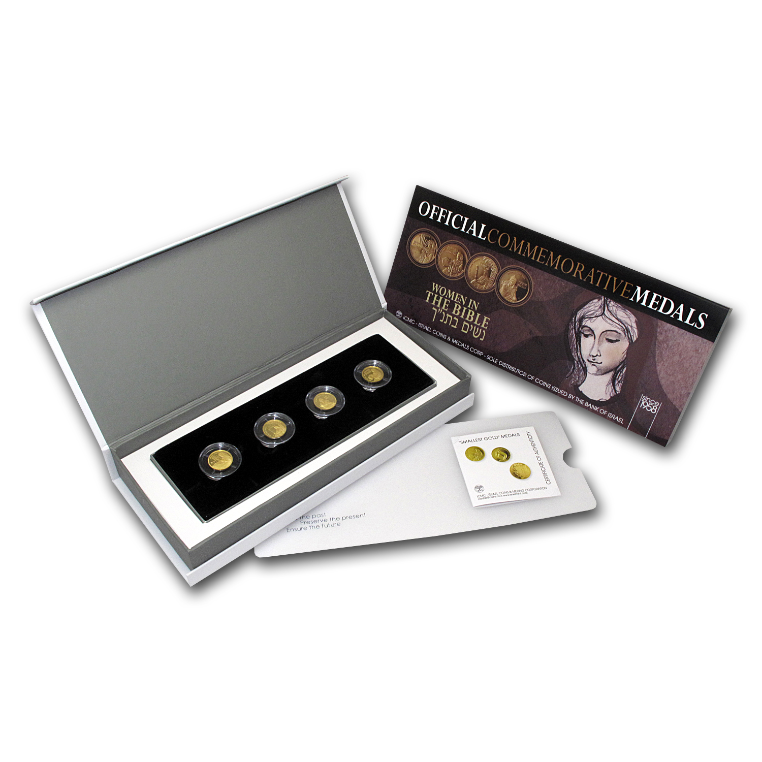 2009-2011 Israel 4-Coin Gold Women of The Bible Set