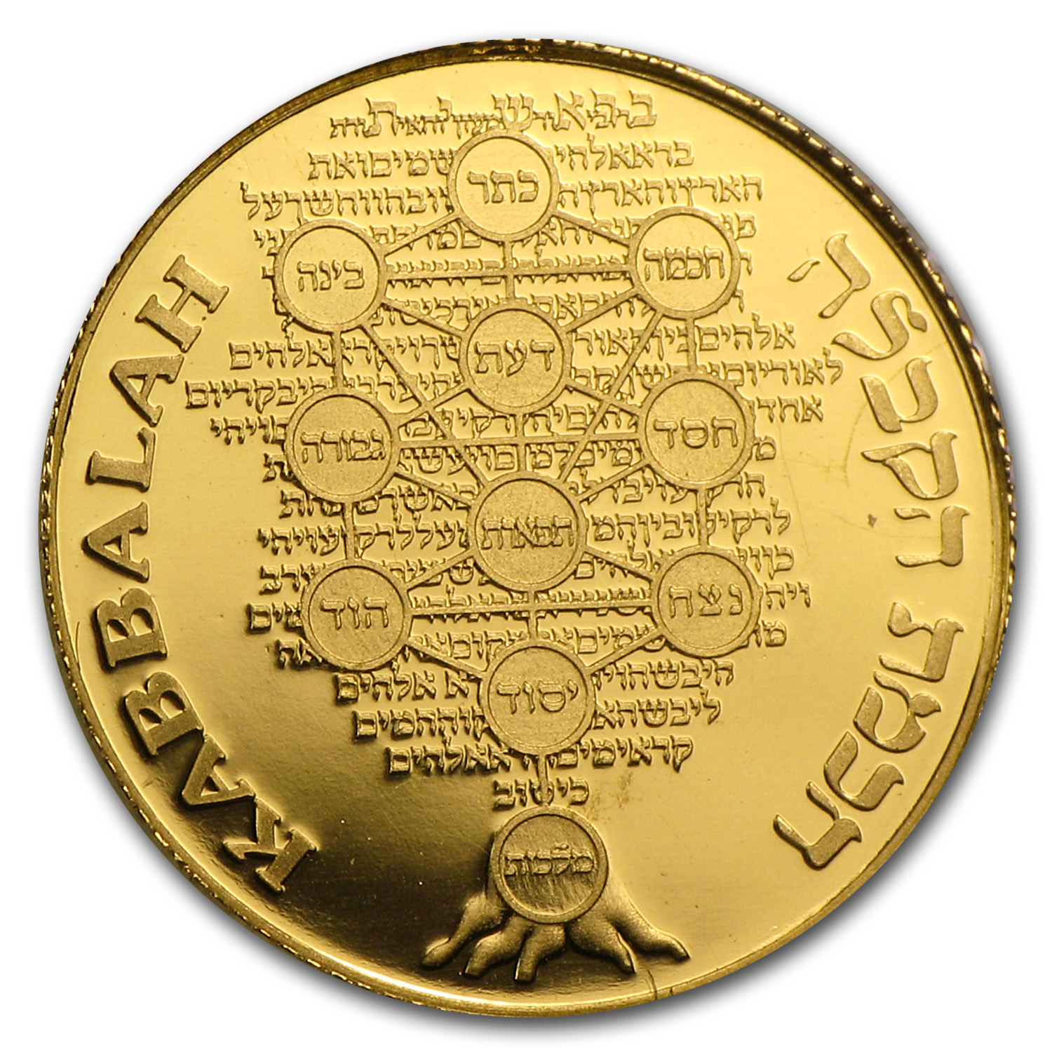 2009 Israel Kabbalah-Smallest Pure Gold Medal