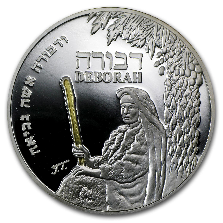 2011 Israel Deborah Silver Medal Proof Asw 643 Holy