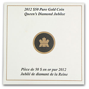 2012 1 oz Gold Canadian $50 The Queen's Diamond Jubilee UHR