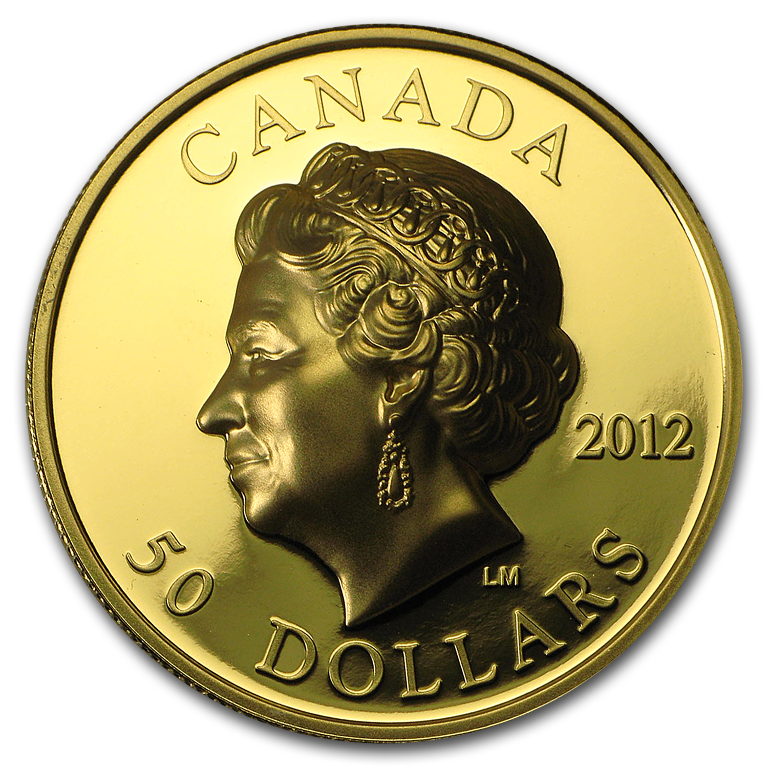 2012 1 oz Gold Canadian $50 The Queen's Diamond Jubilee Prf (UHR)
