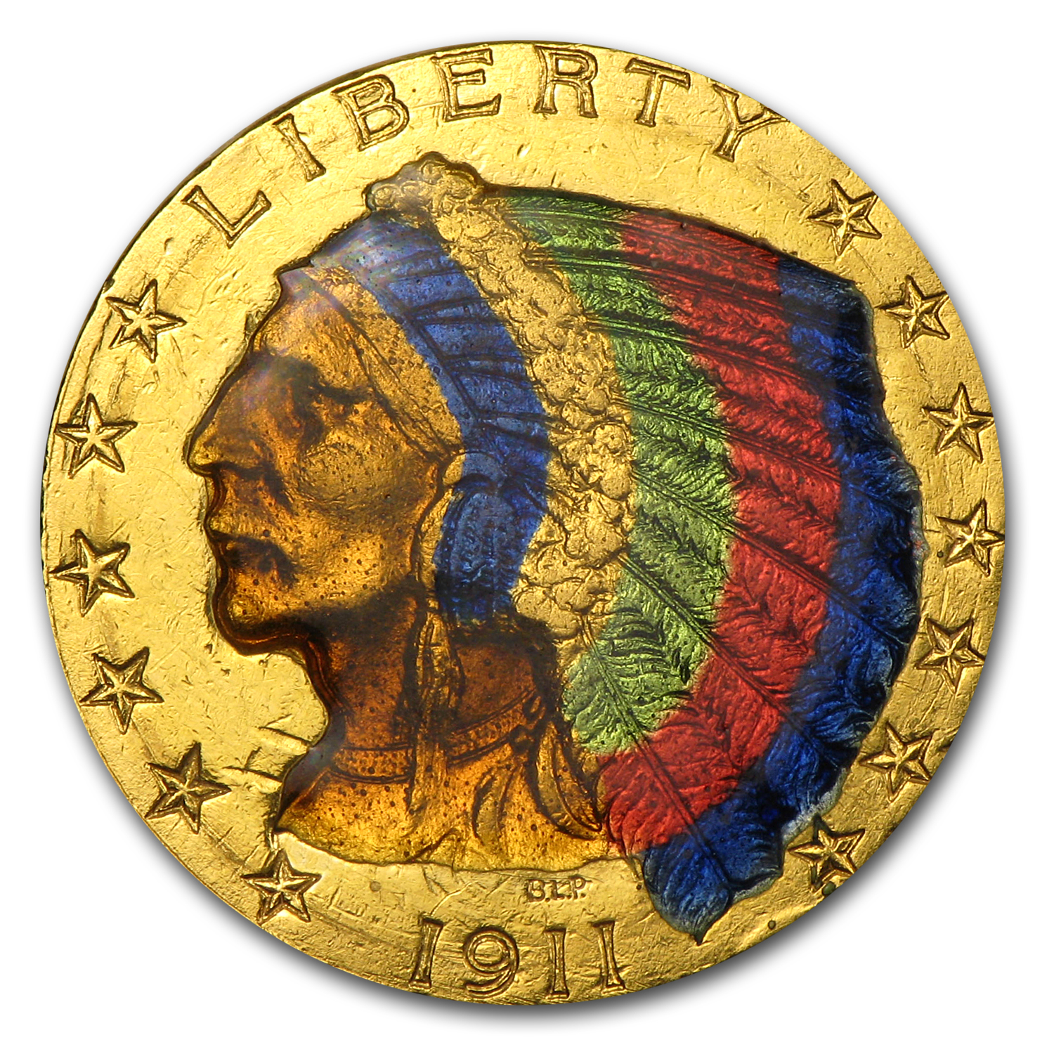 $5 Indian Gold Half Eagle (Colorized)