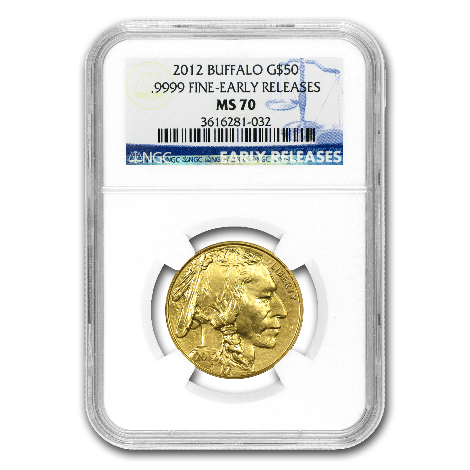 2012 1 oz Gold Buffalo MS-70 NGC (Early Releases)