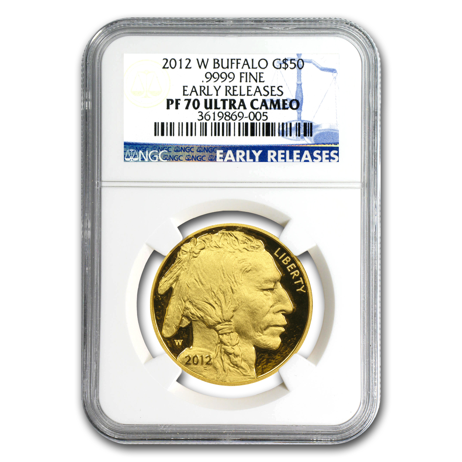 2012-W 1 oz Proof Gold Buffalo PF-70 NGC (ER)