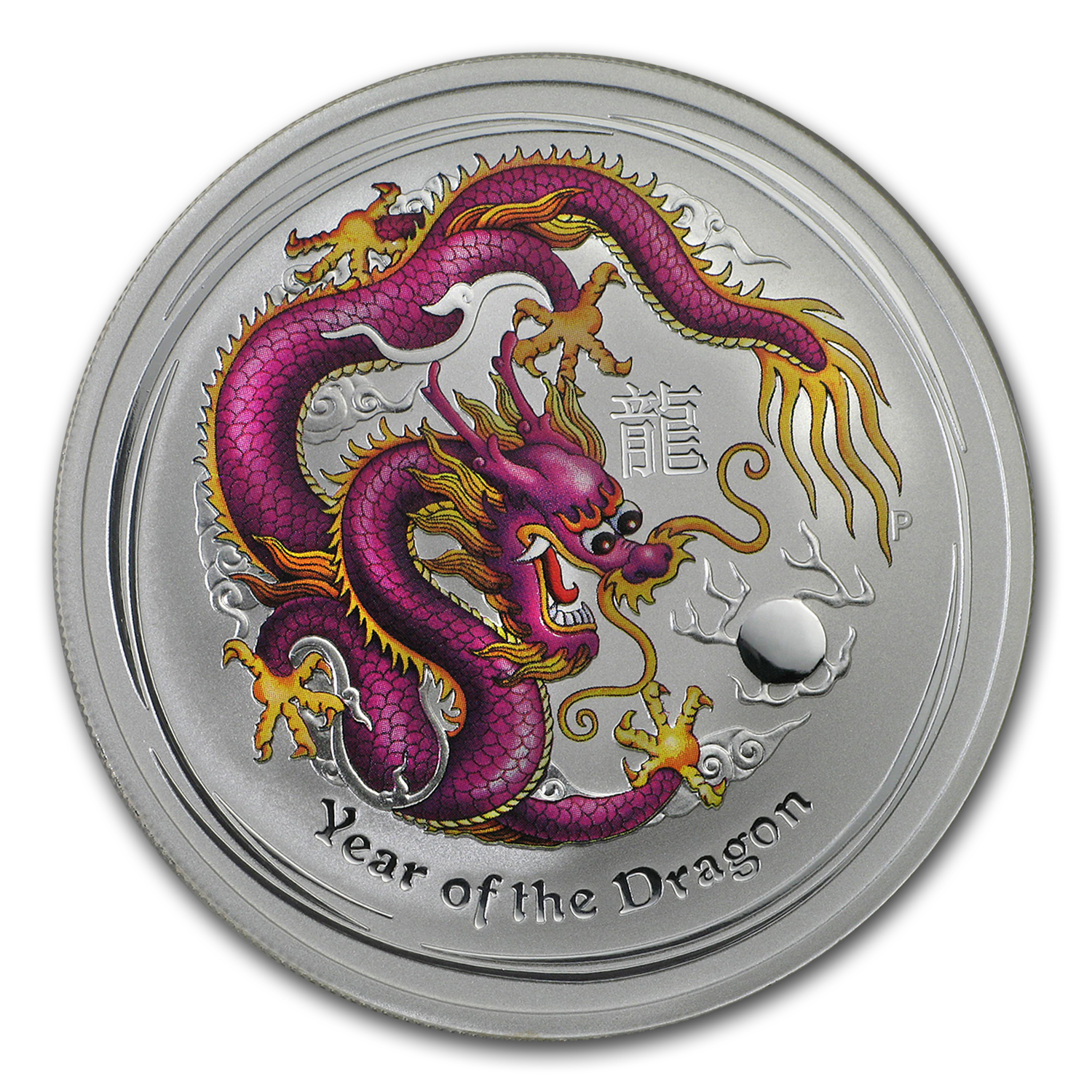 2012 10-Coin Australia 1 oz Silver Dragon Set BU (Colorized)