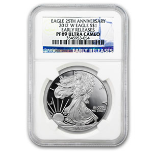 2012-W Proof Silver American Eagle PF-69 NGC (ER)