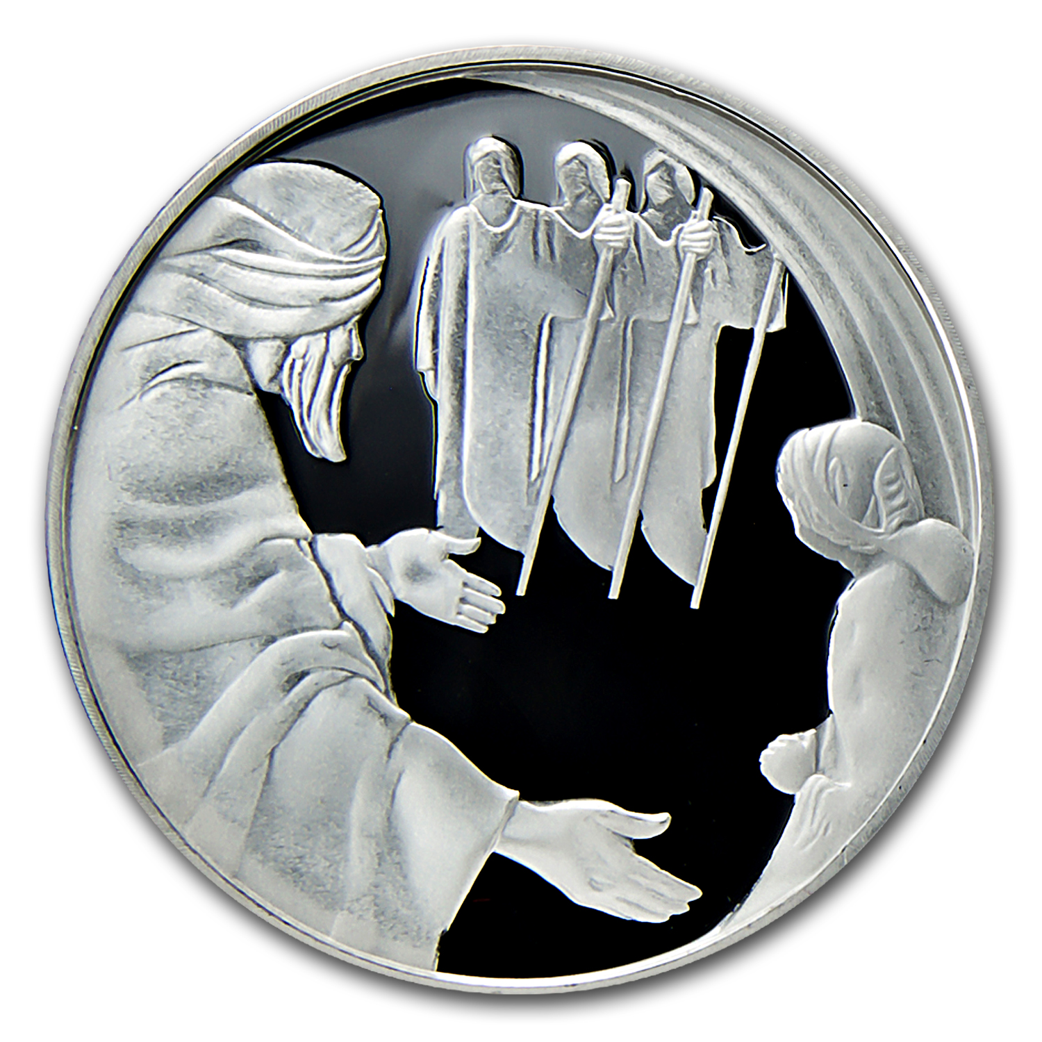 2006 Israel Silver 2 NIS Abraham and the Angels Proof