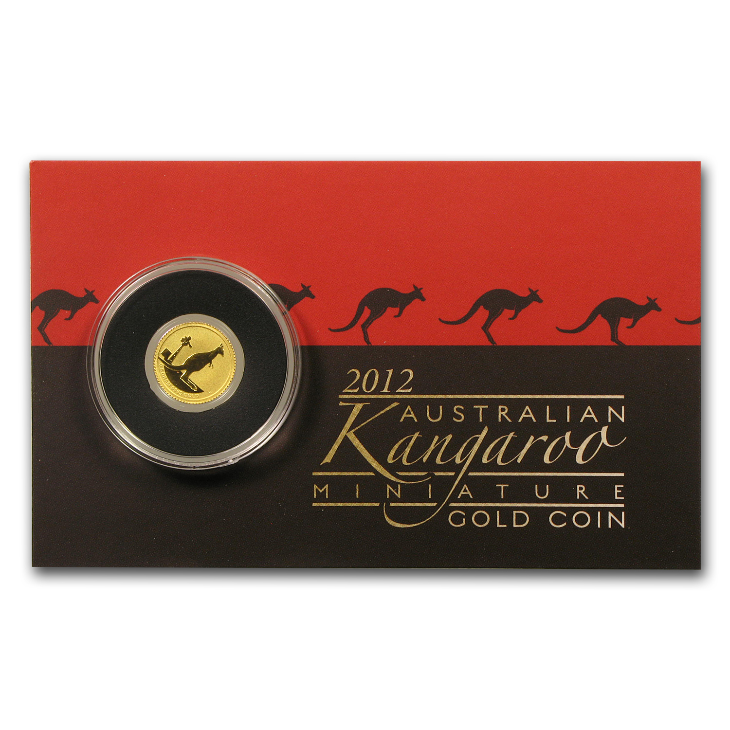 2012 Australia 1/2 Gram Gold Kangaroo Mini Roo BU (Assay Card)