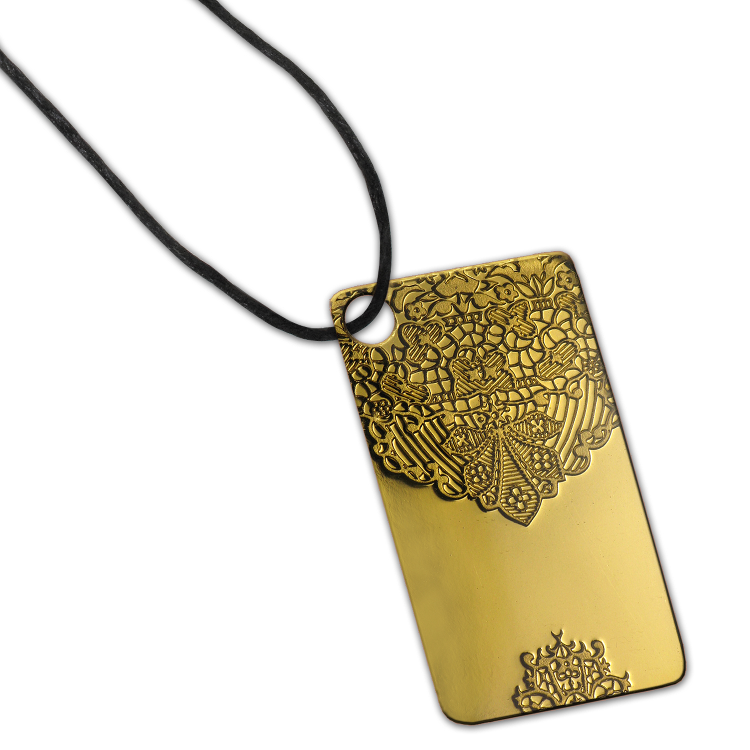 5 gram Gold Pendants - Pamp Suisse Ingot (Chantilly Lace)