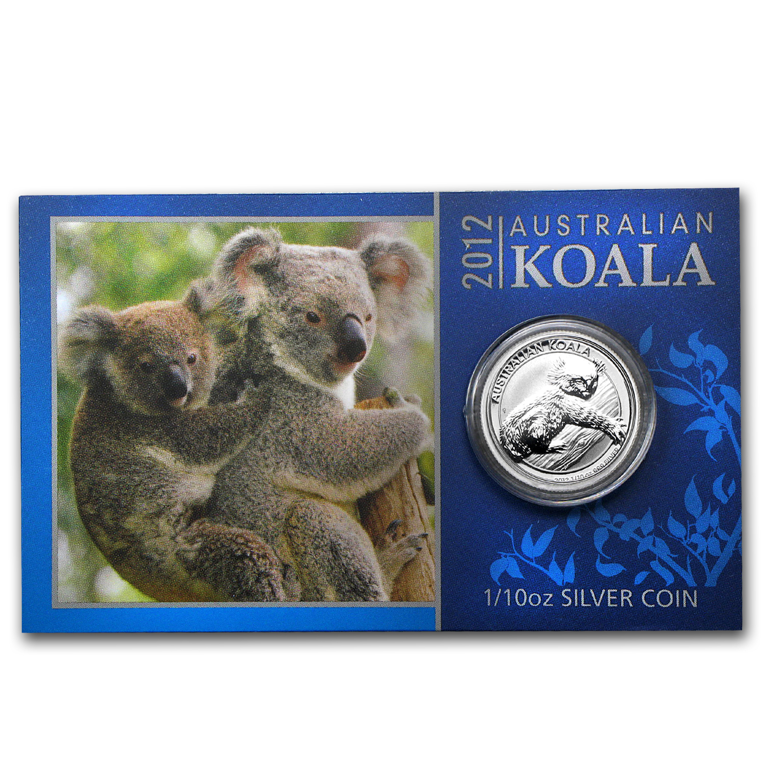 2012 1/10 oz Silver Australian Koala (In display card)