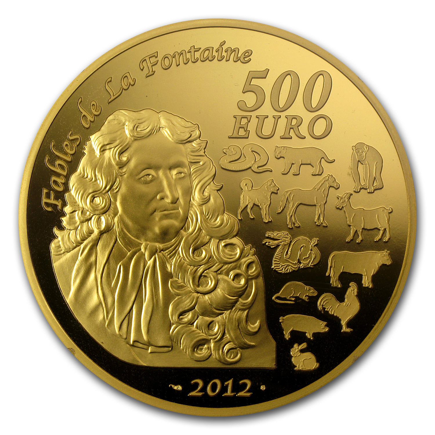 2012 France 5 oz Proof Gold €500 Year of the Dragon