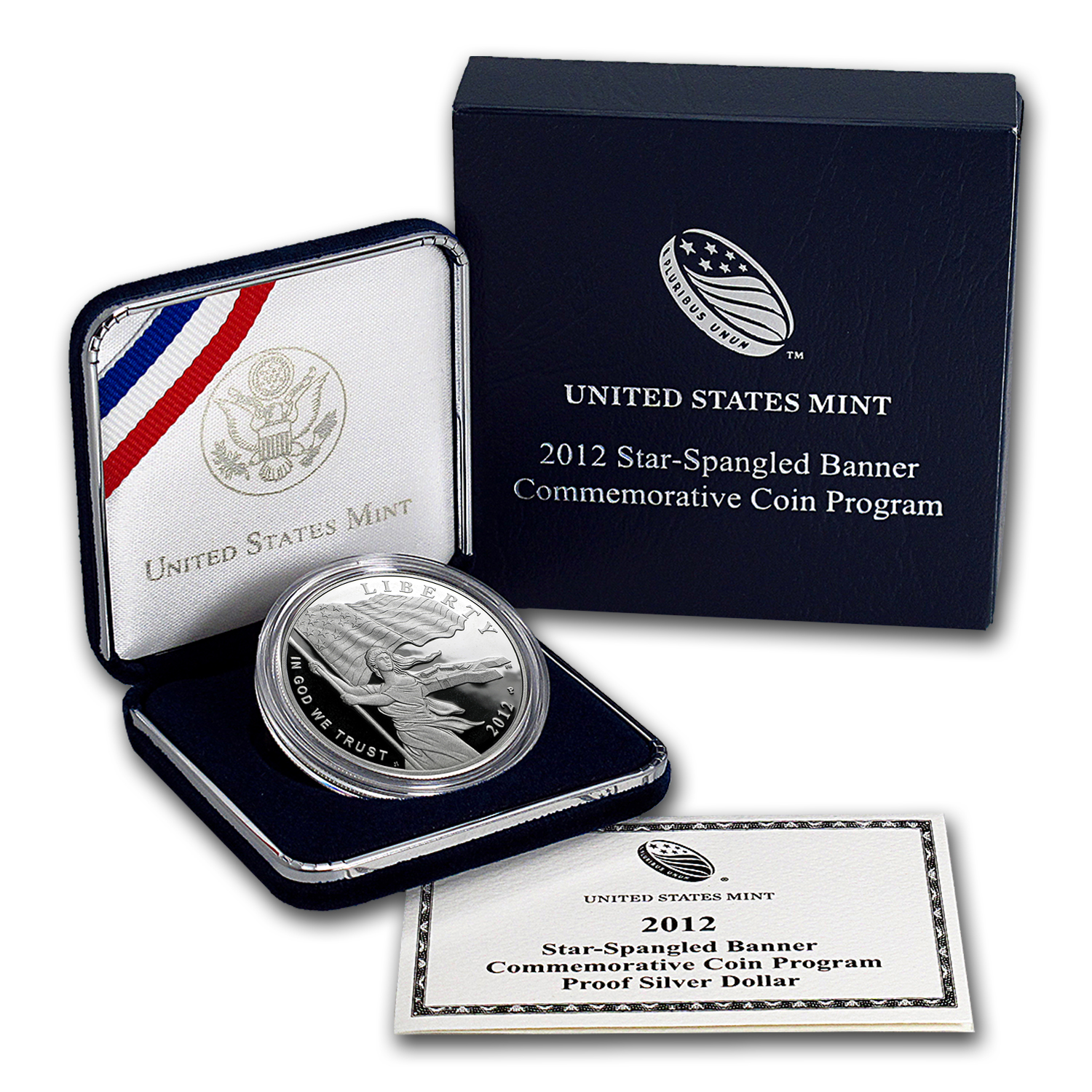 2012-P Star Spangled Banner $1 Silver Commem Proof (w/Box & COA)