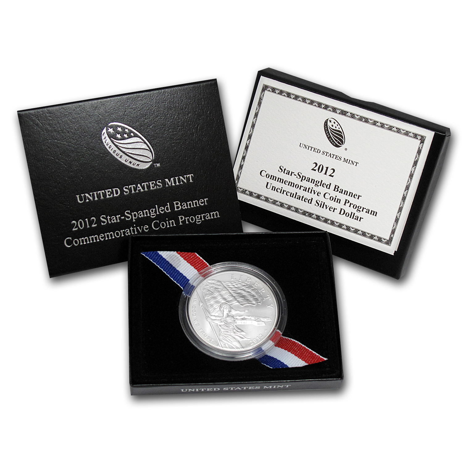 2012-P Star Spangled Banner $1 Silver Commem BU (w/Box & COA)