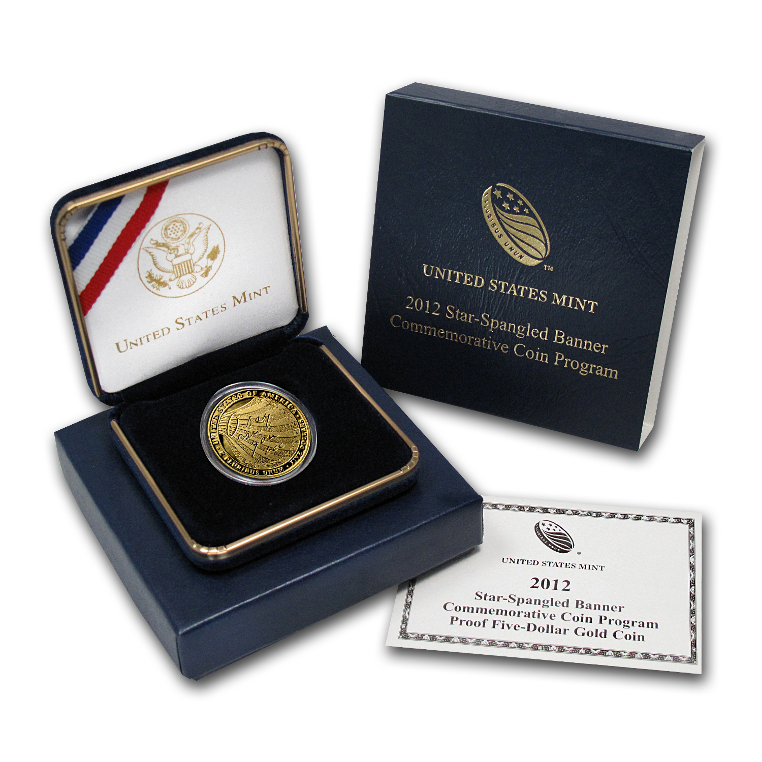2012-W $5 Gold Commemorative Star Spangled Banner Proof