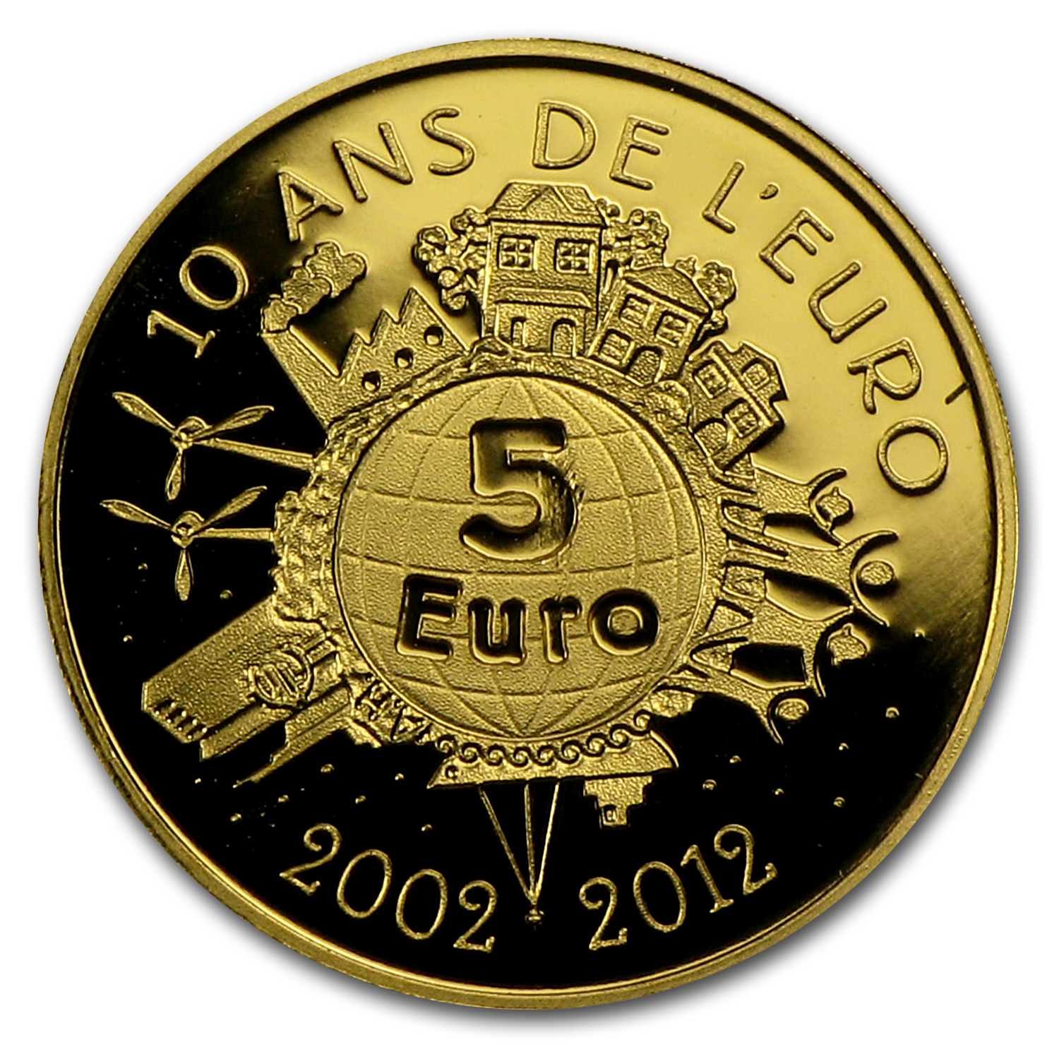 2012 1/2 gram Gold Proof The Sower (5€) - 10th Anniv. of the Euro