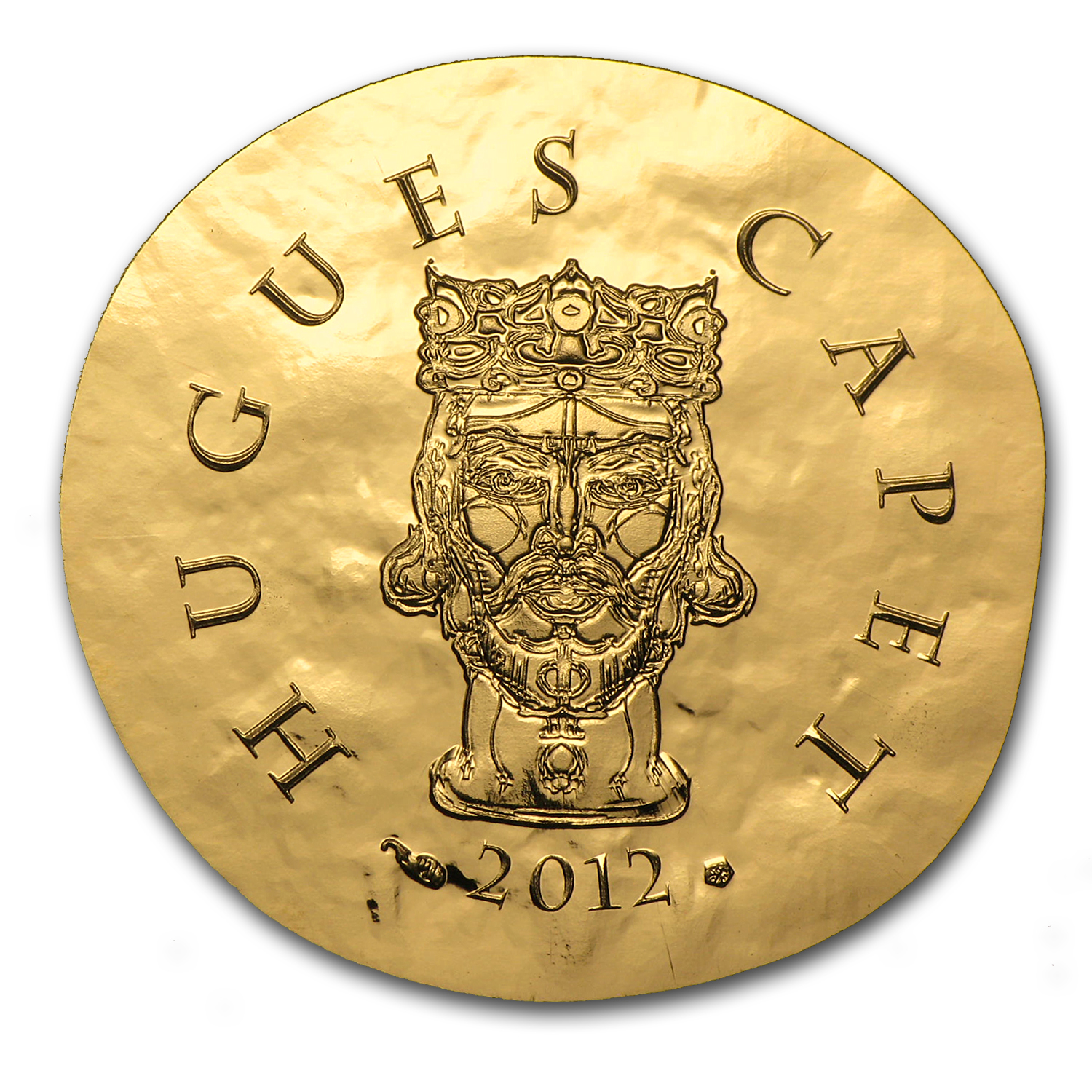2012 1/4 oz Proof Gold €50 Legendary Collection Hugues Capet