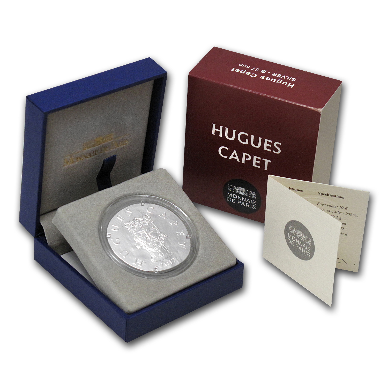 2012 France Silver €10 Legendary Collection Proof (Hugues Capet)