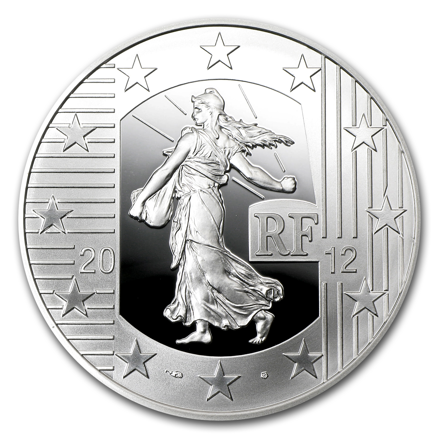 2012 €10 Silver Proof The Sower -10th Anniversary of the Euro