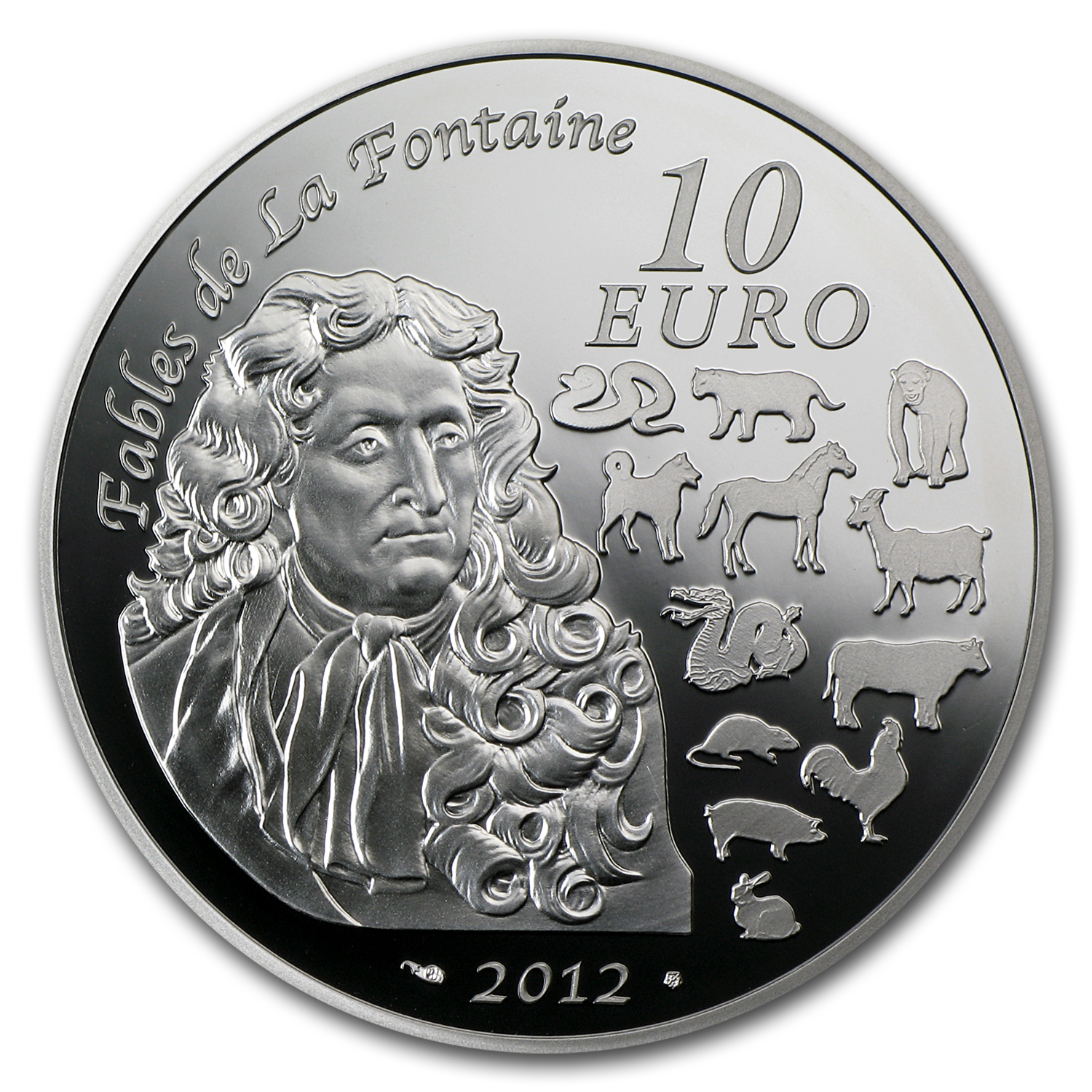 2012 10 Euro Silver Proof Year of the Dragon - Lunar Series