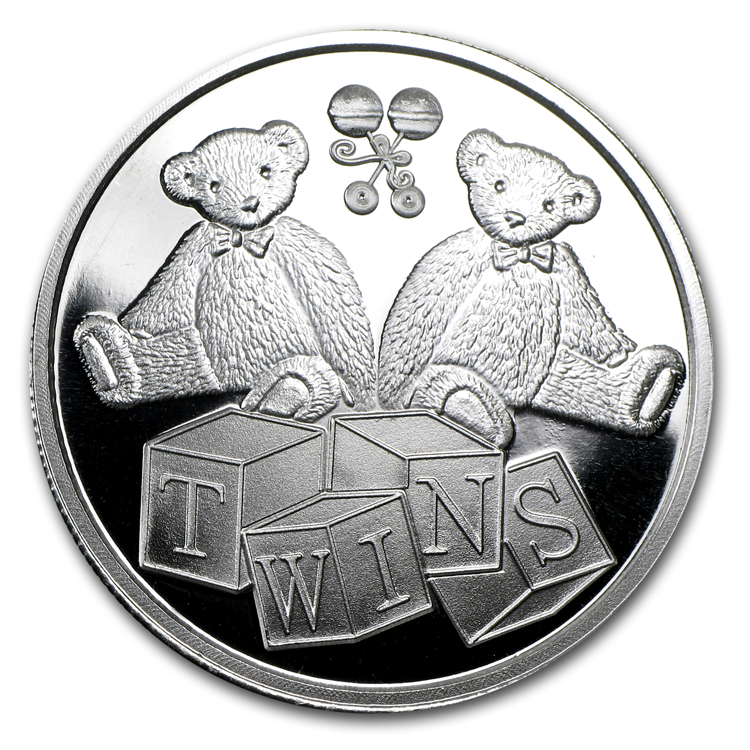 1 oz Silver Rounds - Twin Baby (w/Box & Capsule)