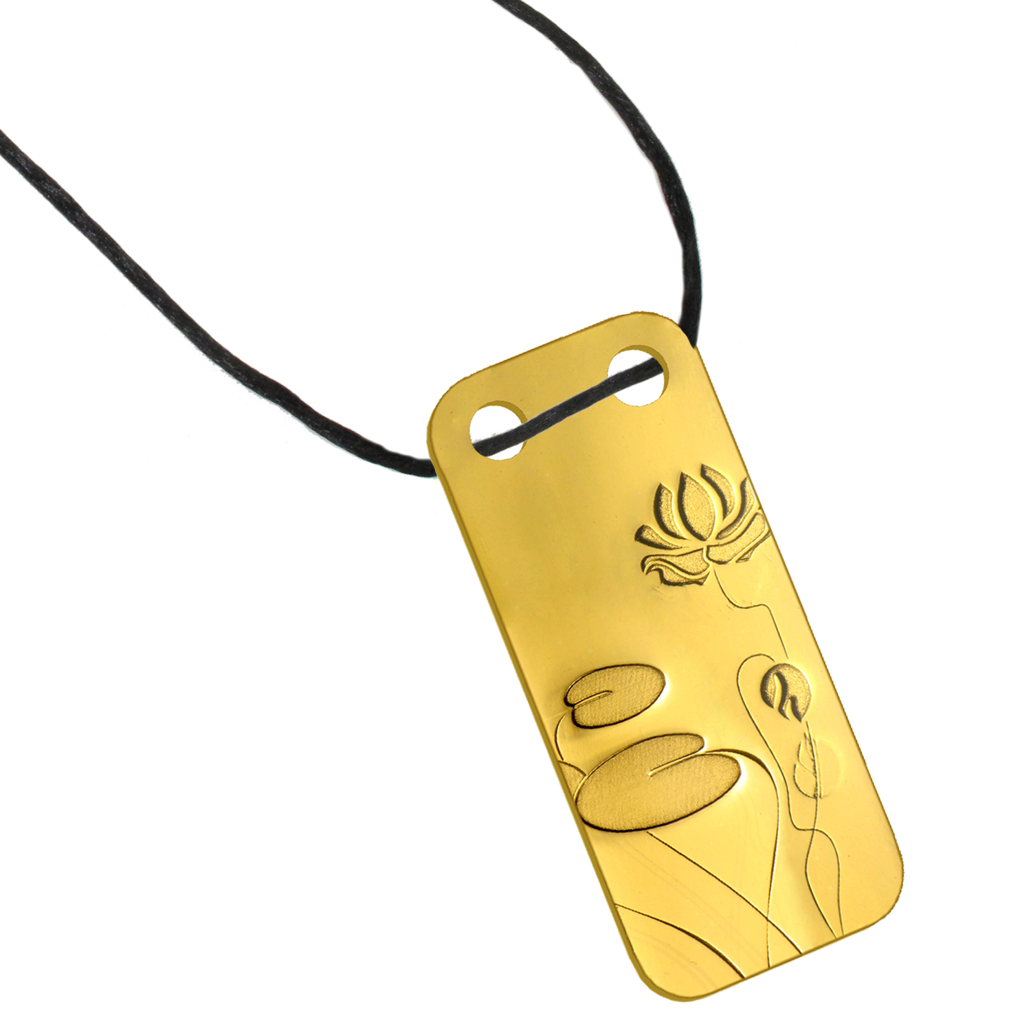 1/5 oz Gold Pendant - Pamp Suisse Ingot (Water Lily)
