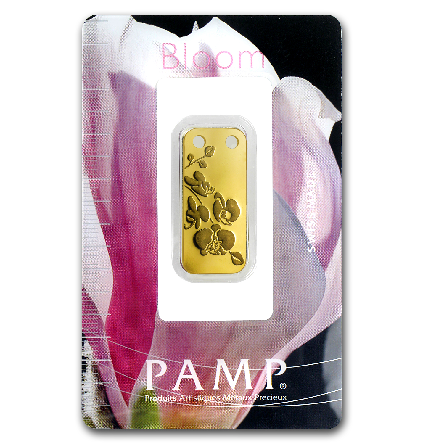 1/5 oz Gold Pendants - Pamp Suisse Ingot (Orchid, Proof)
