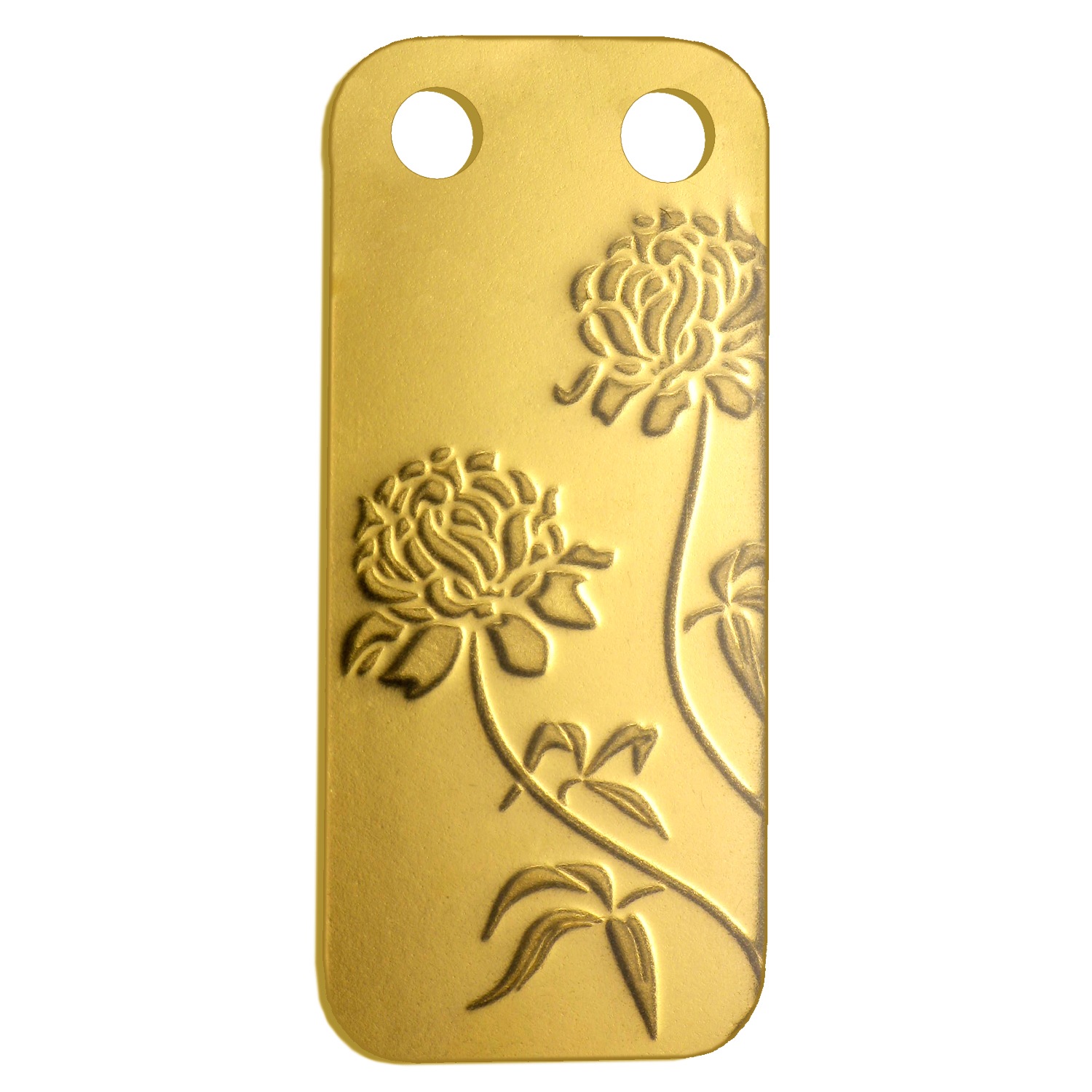 1/5 oz Gold Pendants - Pamp Suisse Ingot (Peony, Proof)