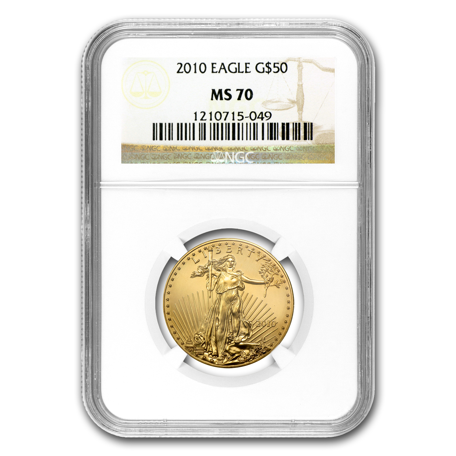 2010 1 oz Gold American Eagle MS-70 NGC