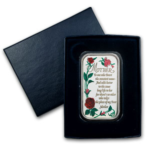 1 oz Silver Bar - Mother's Day (Enameled, w/Box & Capsule)