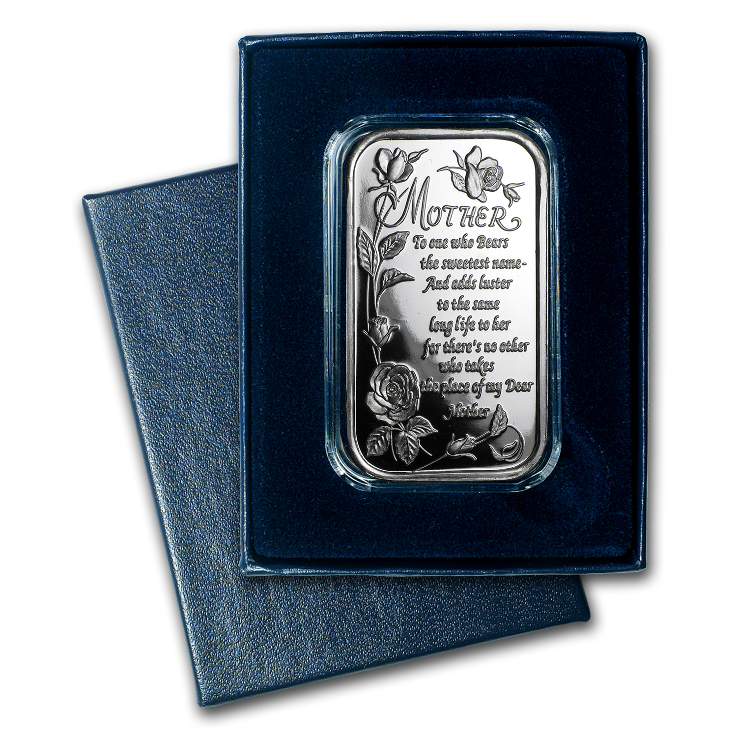 1 oz Silver Bar - Poem for Mother (w/Box & Capsule)