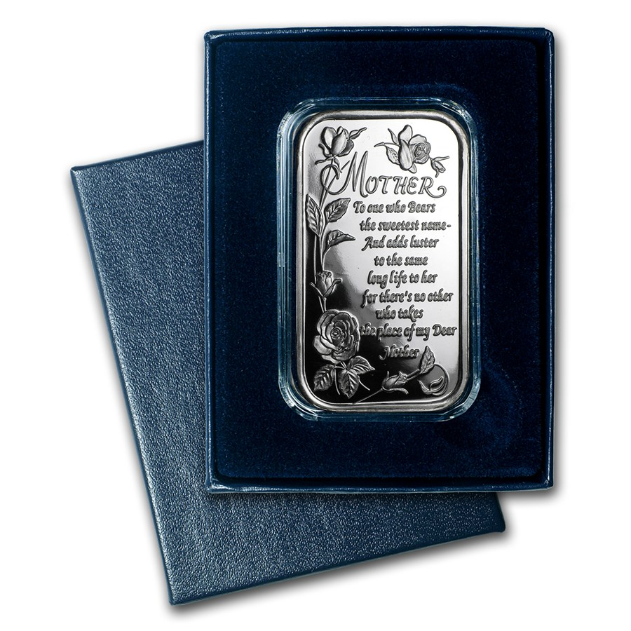1 Oz Silver Bar Mother S Day W Box Amp Capsule 1 Oz