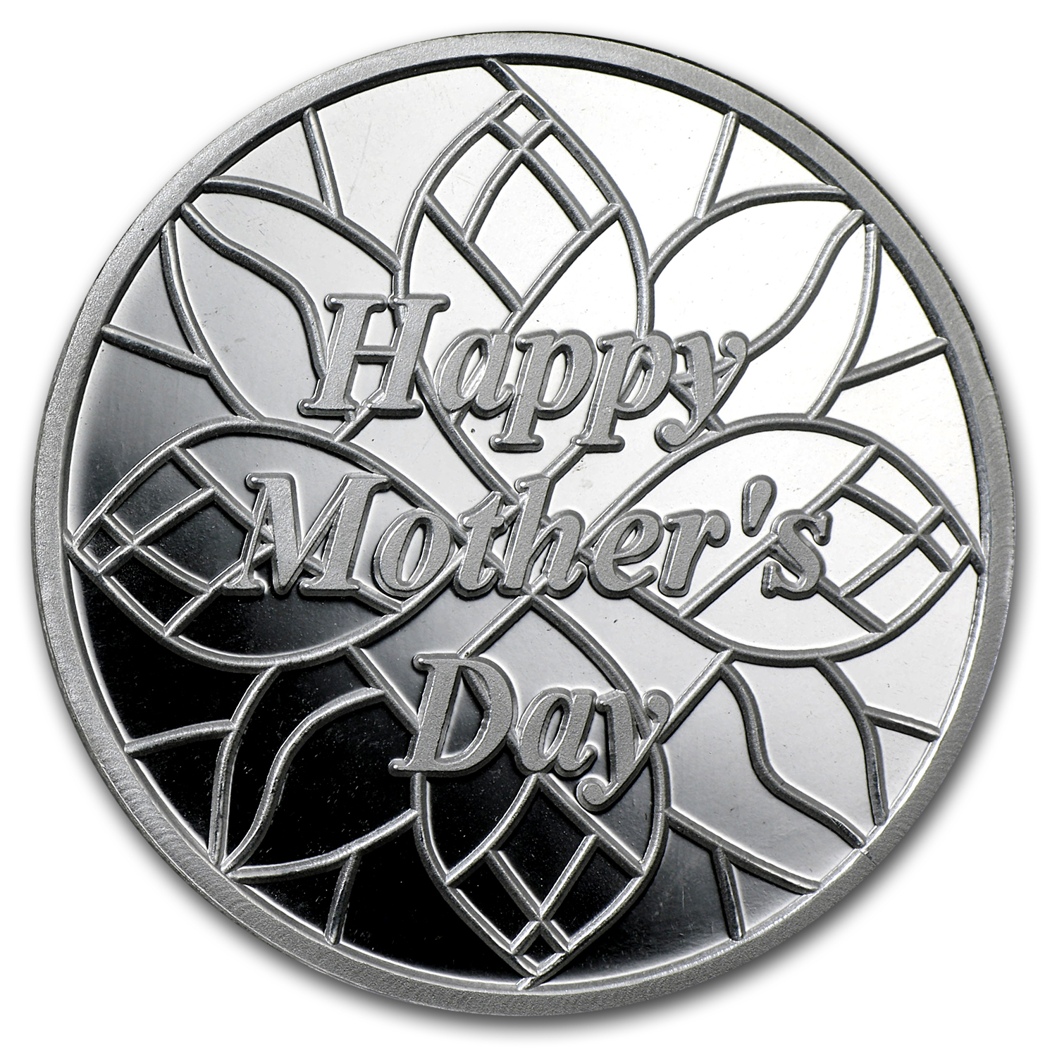 1 oz Silver Round - Happy Mother's Day Flowers (w/Box & Capsule)
