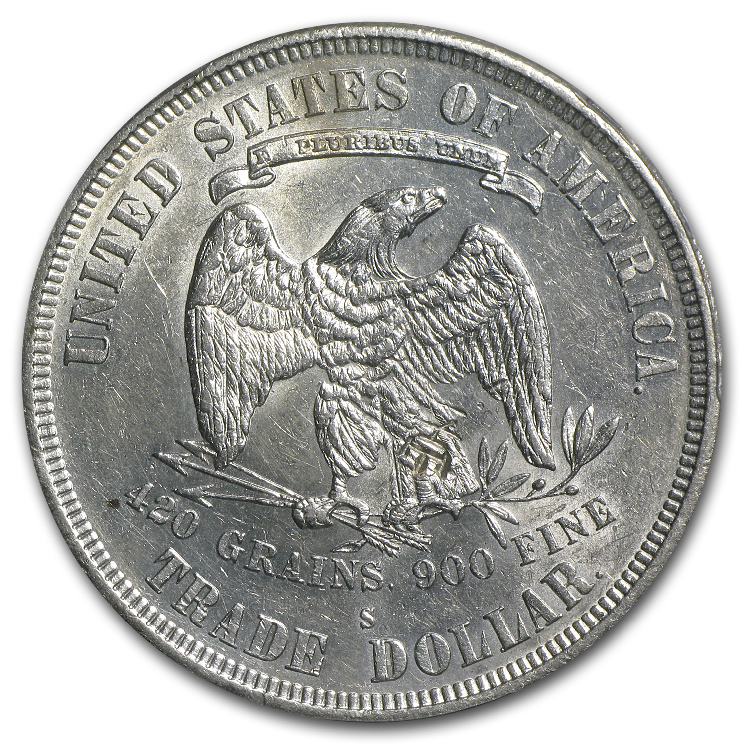 1877-S Trade Dollar AU-55 PCGS (Chopmark)
