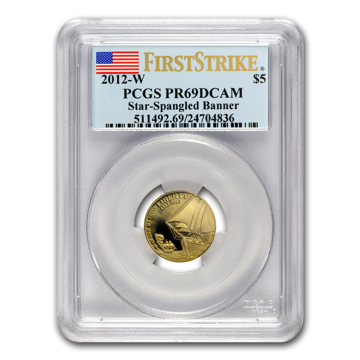 2012-W $5 Gold Commem Star Spangled Banner PR-69 PCGS (FS)