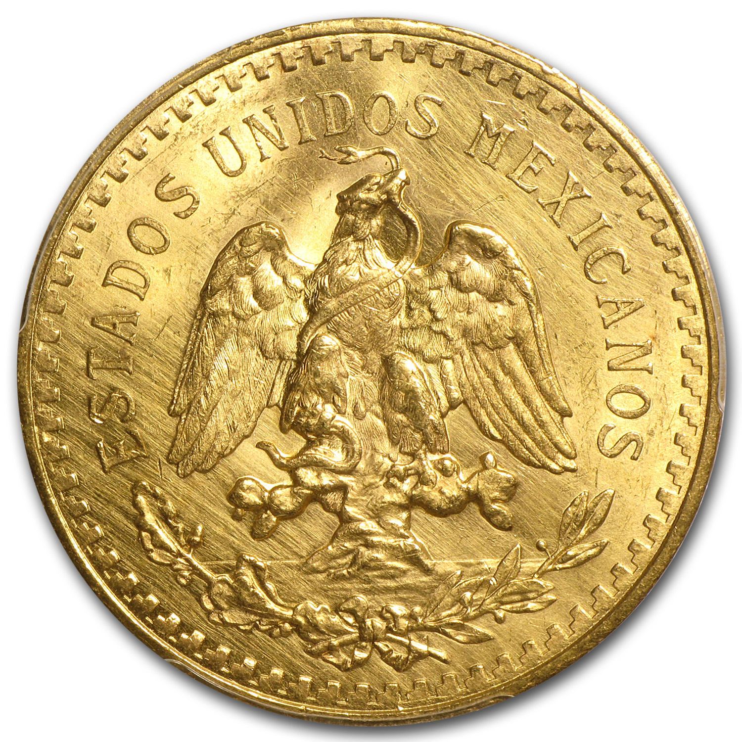 Mexico 1931 50 Pesos Gold Coin - Unc Details - Cleaned PCGS