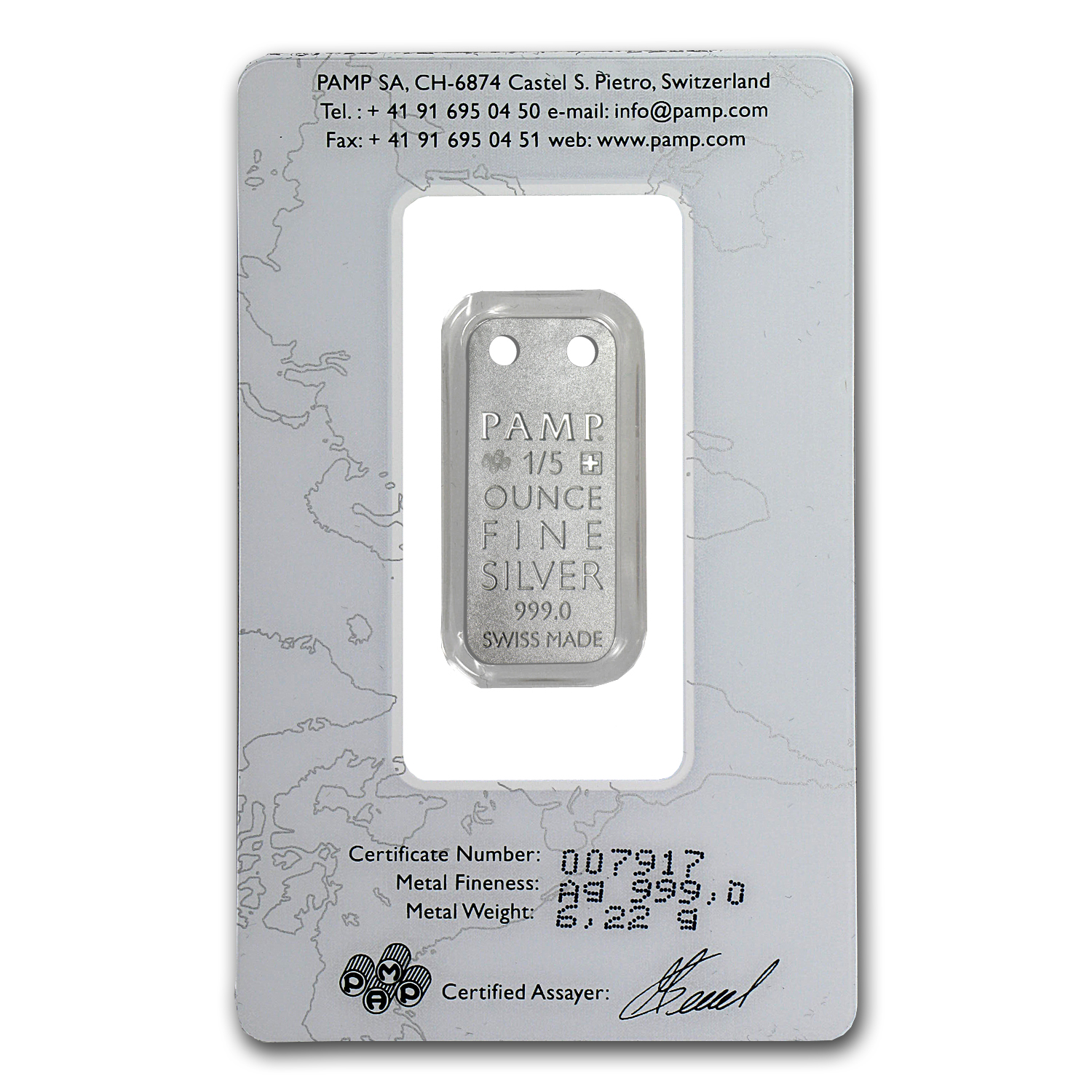 Orchid - 1/5 oz Proof Silver Pamp Ingot Pendant